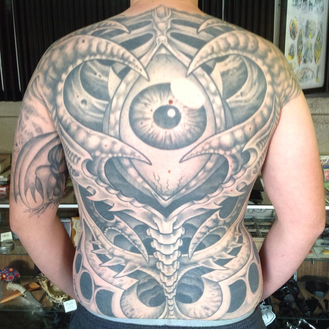 Tattoo Designs New 2019: 75+ Best Biomechanical Tattoo Designs & Meanings