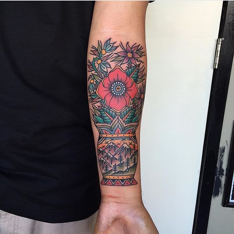 120+ Best American Traditional Tattoo Designs & Meanings ...