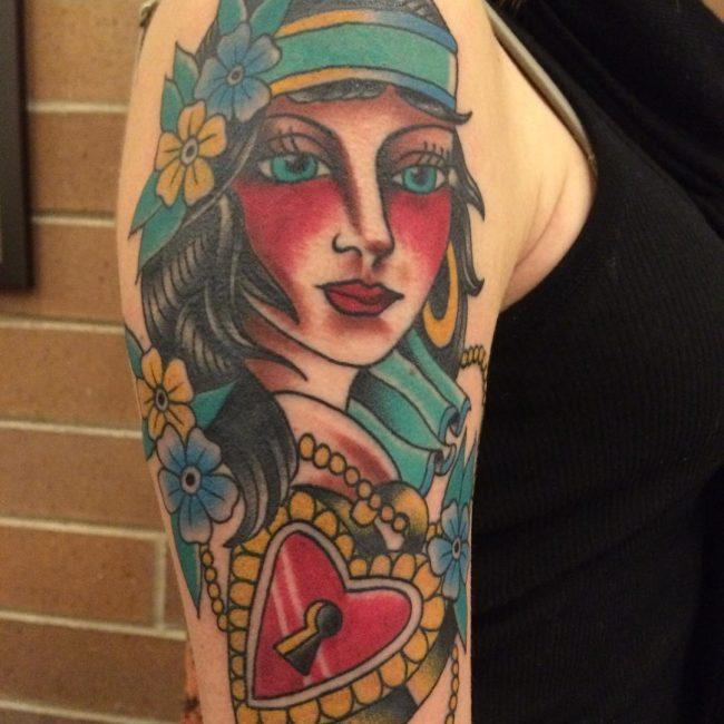 American traditional tattoo