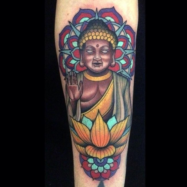 130 best buddha tattoo designs meanings spiritual guard 2018 buddha tattoos although the religion itself stands for all these things the lotus flower is used to show the three particular things and so you do not have mightylinksfo