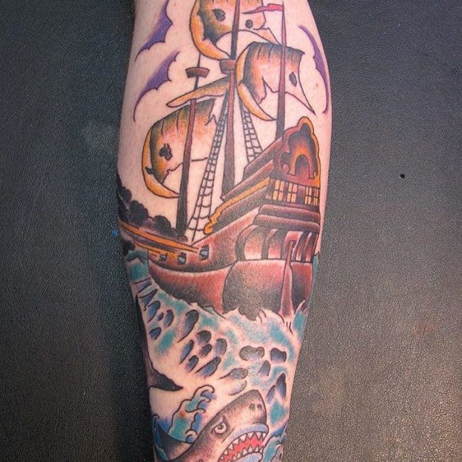 calf tattoos