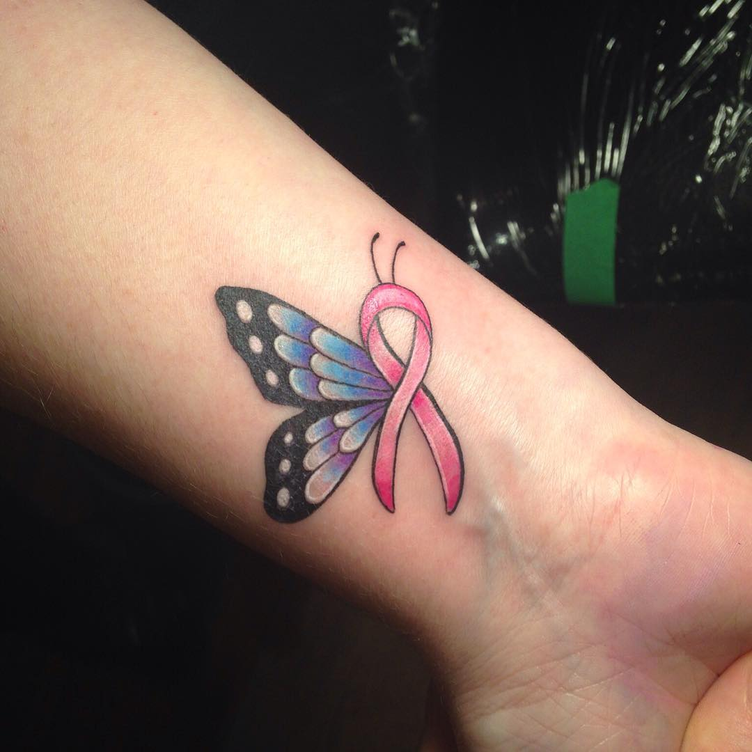 65 Best Cancer Ribbon Tattoo Designs Meanings 2019