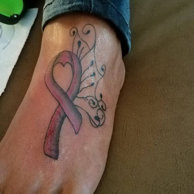 Cancer Ribbon Tattoo