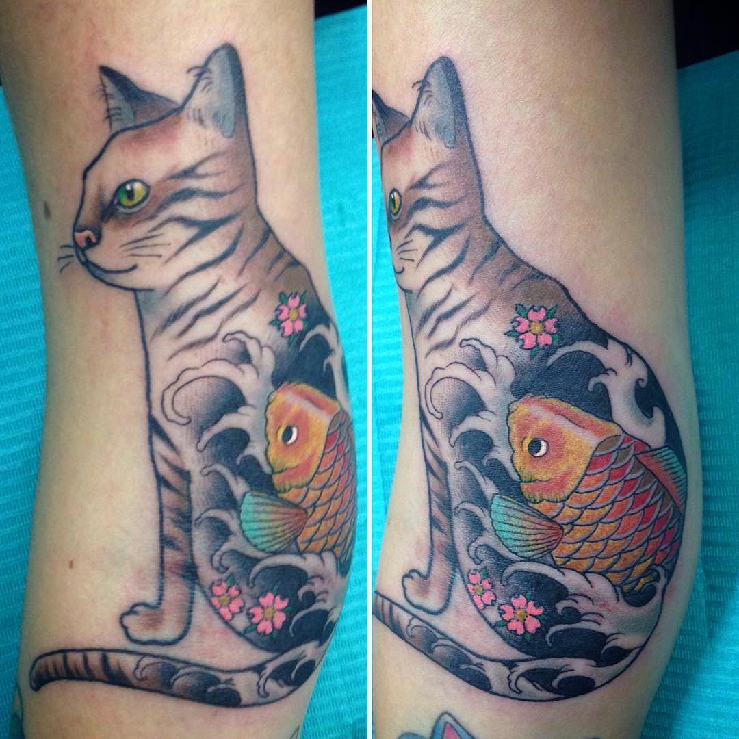80+ Best Cat Tattoo Designs & Meanings - Spiritual Luck (2019)