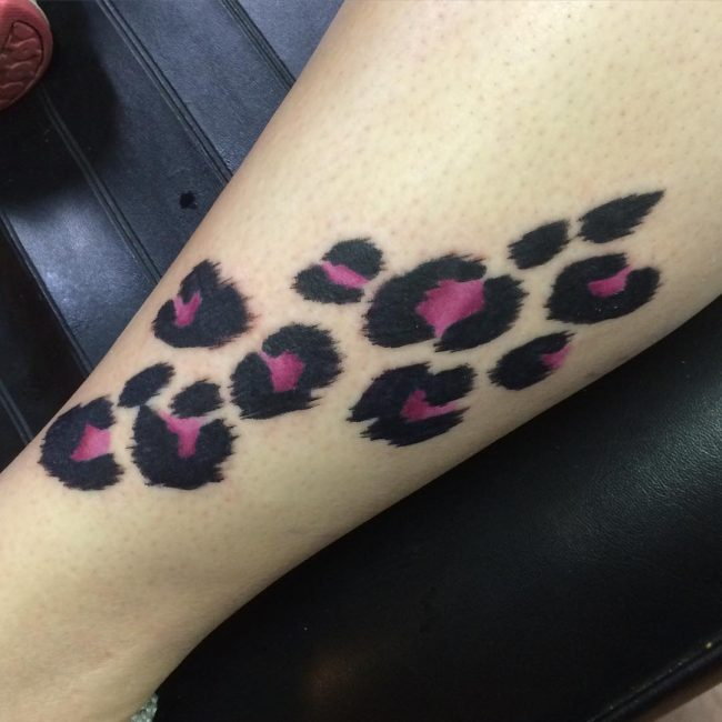 Cheetah Print Tattoo