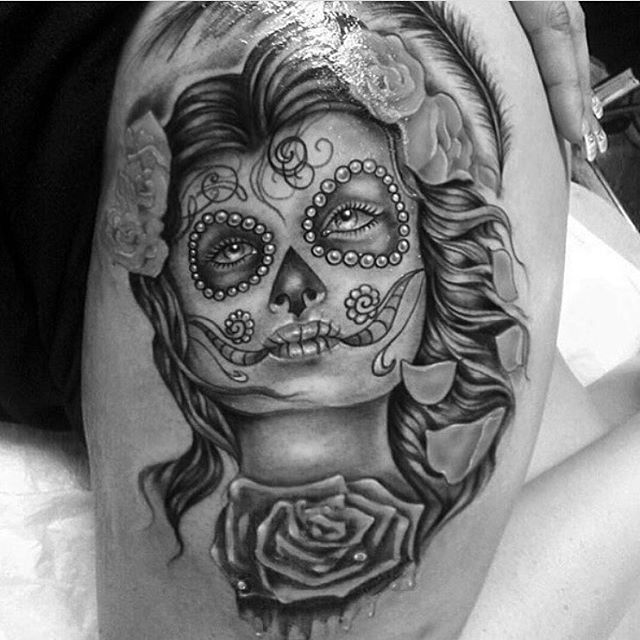 90+ Best Day Of The Dead Tattoos -Designs & Meanings (2019