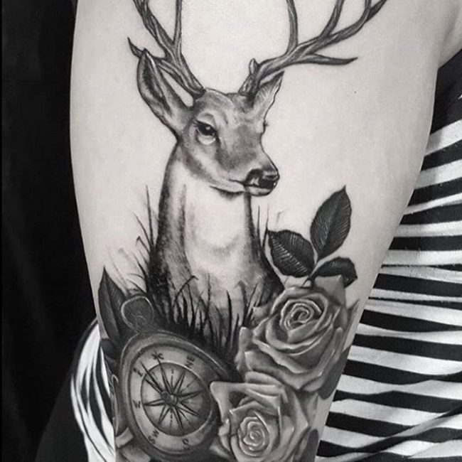 acaa80a5d5ad7 120+ Best Deer Tattoo Meaning and Designs - Wild Nature (2019)