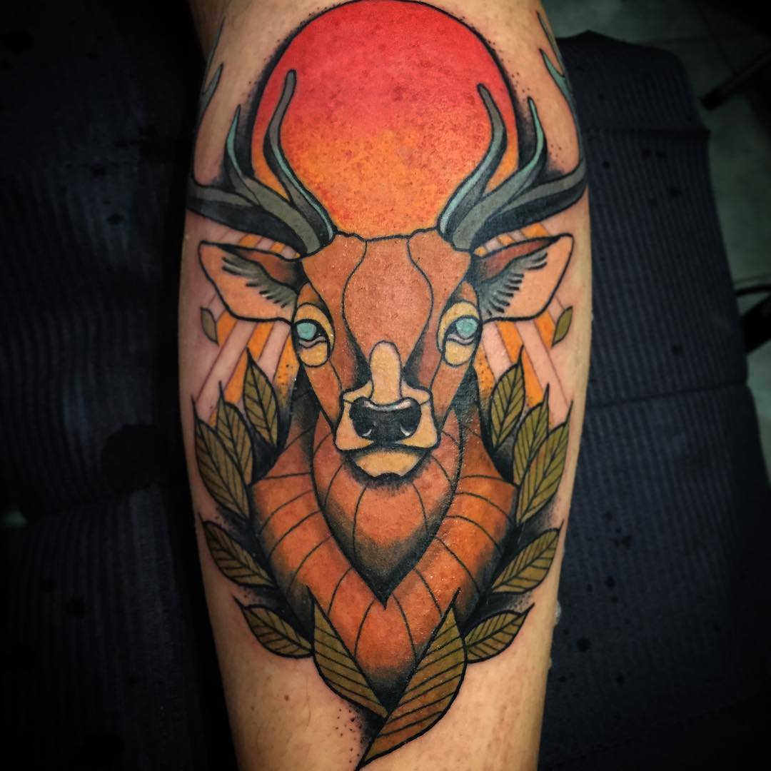 Simple Antler Tattoo: 120+ Best Deer Tattoo Meaning And Designs