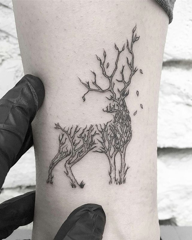 Deer Track Tattoo: 120+ Best Deer Tattoo Meaning And Designs