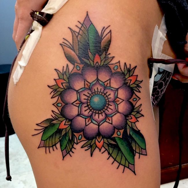 hip tattoo