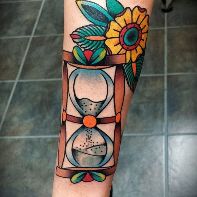 Hourglass tattoo