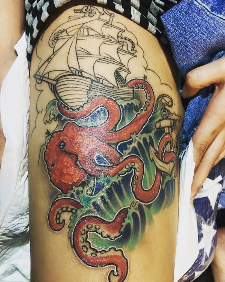 60 Best Kraken Tattoo Meaning And Designs Legend Of The Sea 2018