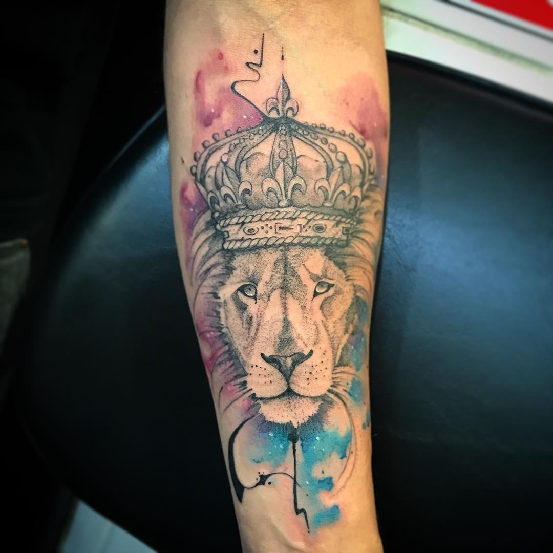 Colorful Lion Tattoo Tattoo Tattooed Tattoos: 110+ Best Wild Lion Tattoo Designs & Meanings