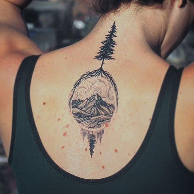 pine tree tattoos