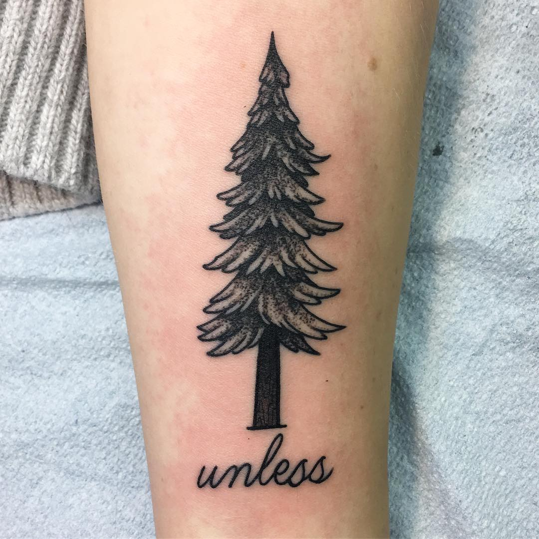 75 simple and easy pine tree tattoo designs meanings for Styles of tattoos