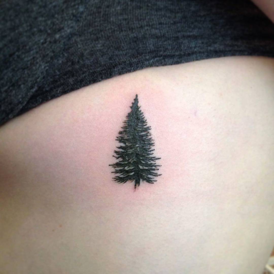 75+ Simple and Easy Pine Tree Tattoo - Designs & Meanings