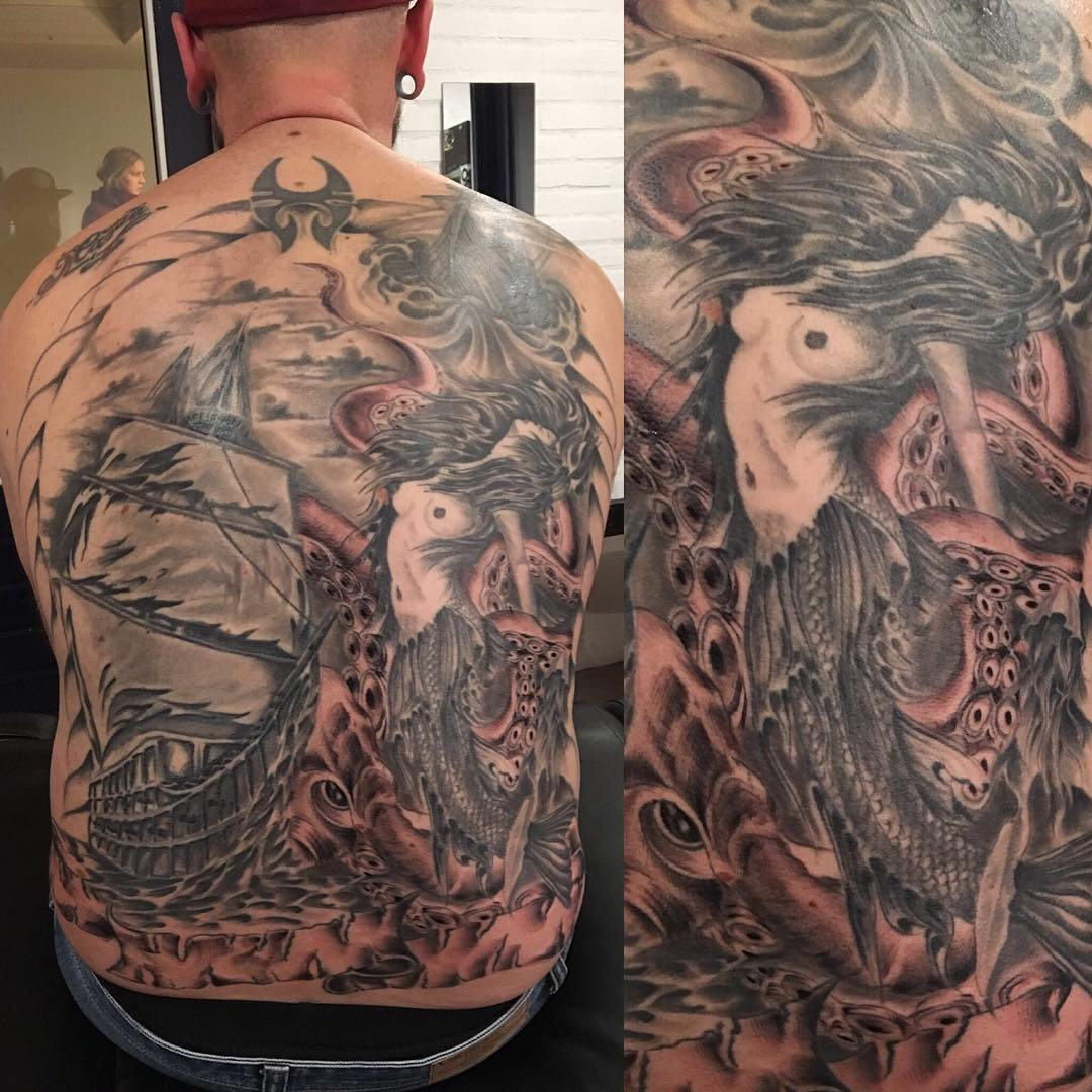 95+ Best Pirate Ship Tattoo Designs & Meanings - (2019)  |Pirate Ship Tattoo