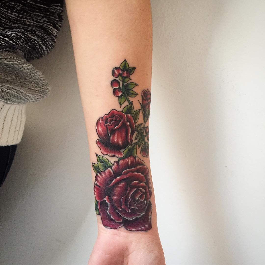 Gun Tattoos Meanings Designs And Ideas: 80+ Stylish Roses Tattoo Designs & Meanings
