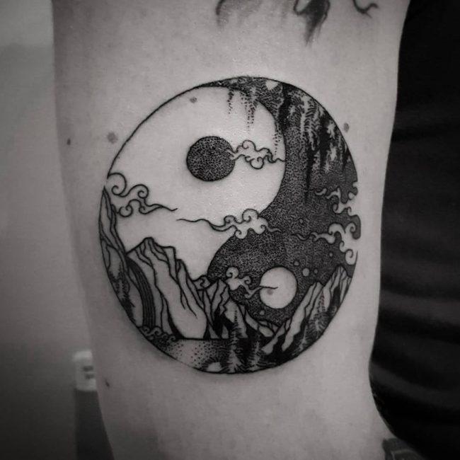 Tattoo Designs Yin Yang Symbol: 115+ Best Yin Yang Tattoo Designs & Meanings