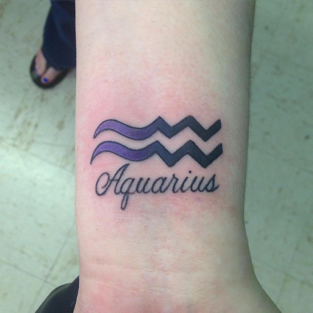 35 unique aquarius sign tattoo designs and ideas choose for Tattoo horoscope signs