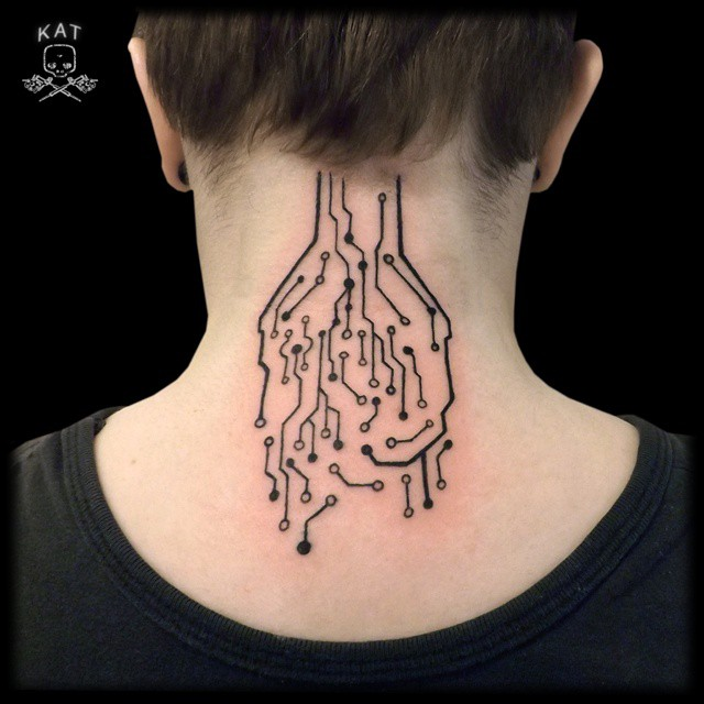 45 back of the neck tattoo designs meanings way to the