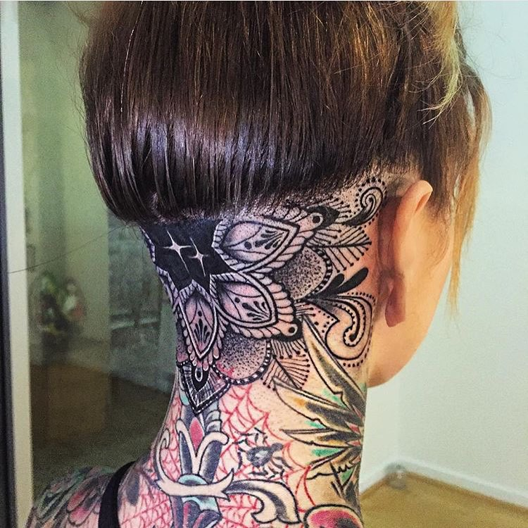 131 Celebrity Neck Tattoos | Steal Her Style