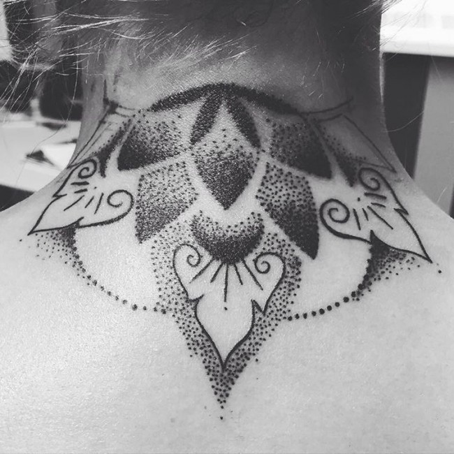 back of the neck tattoos