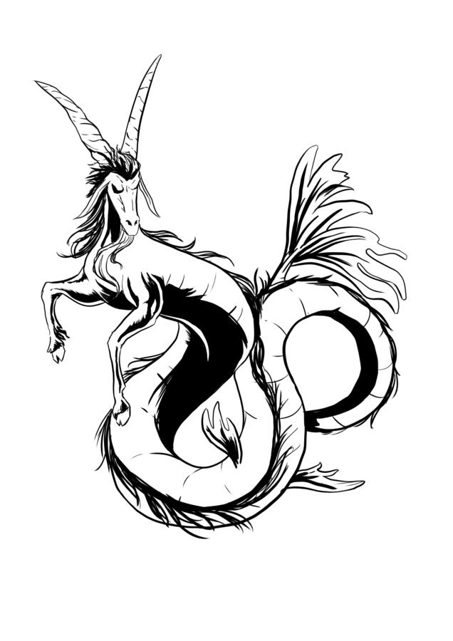 81805727e 55+ Best Capricorn Tattoo Designs - Main Meaning is... (2019)
