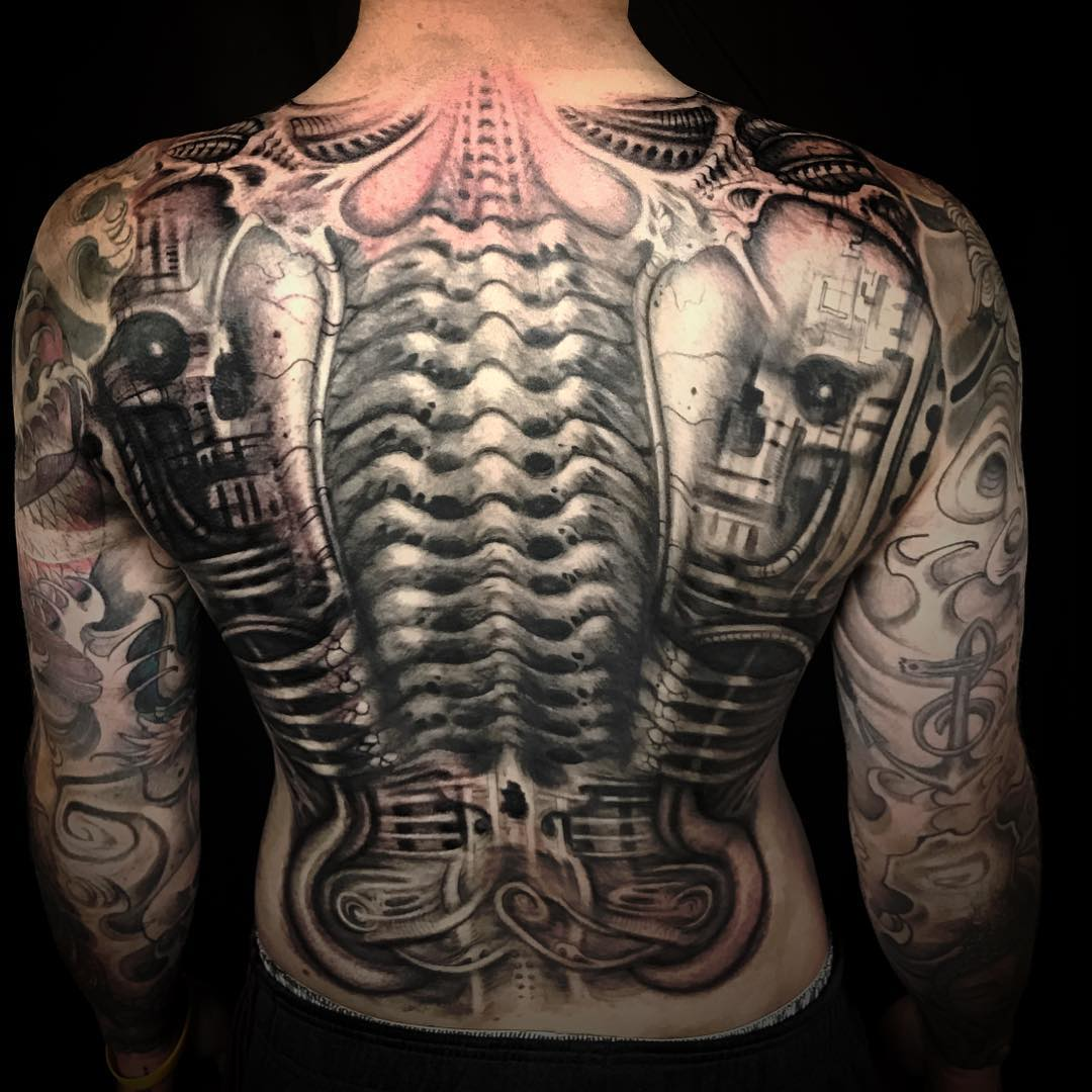 75 best biomechanical tattoo designs meanings top of 2018. Black Bedroom Furniture Sets. Home Design Ideas