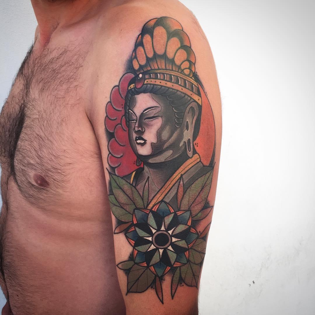 130 best buddha tattoo designs meanings spiritual for Where can i get free tattoos
