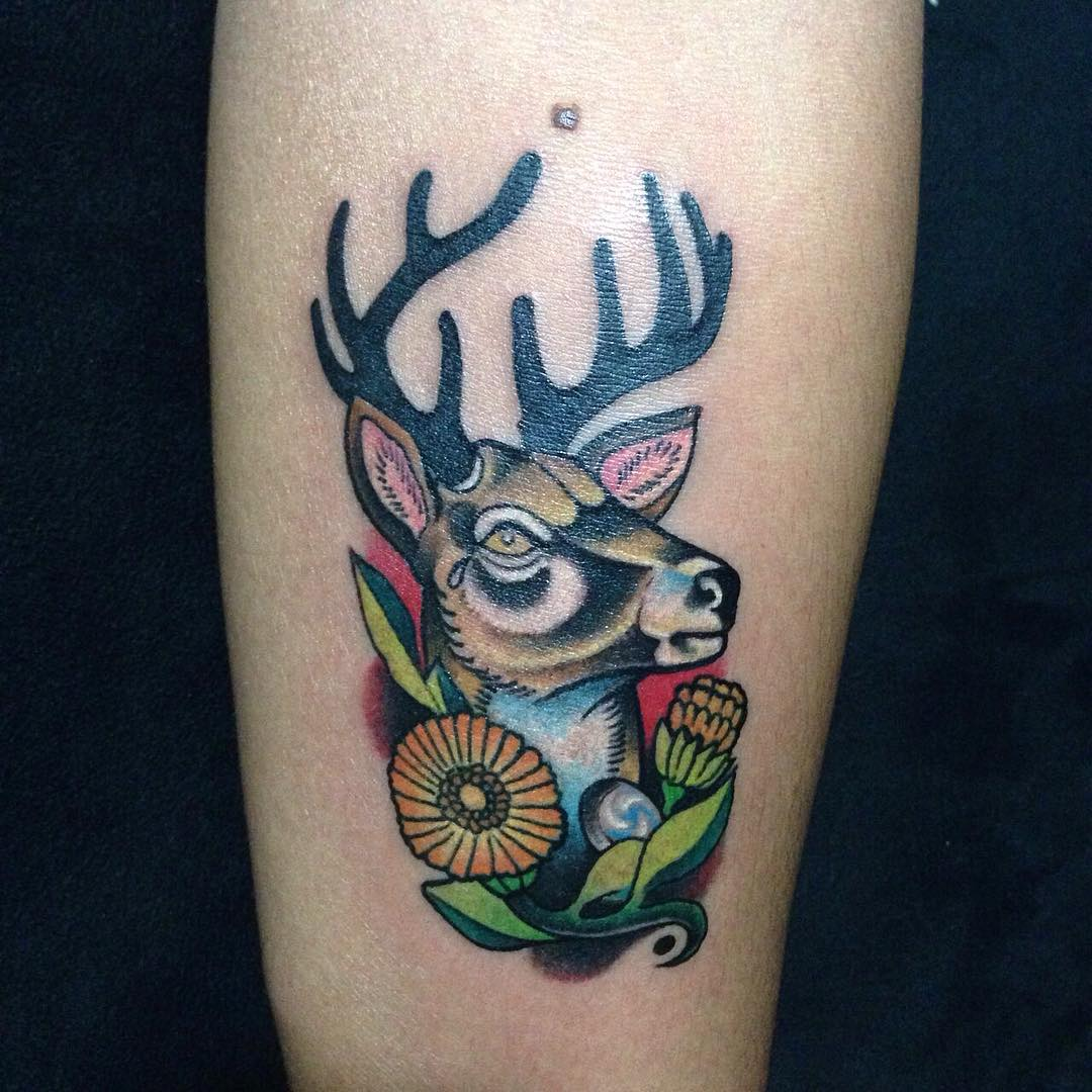 120 best deer tattoo meaning and designs wild nature 2019. Black Bedroom Furniture Sets. Home Design Ideas