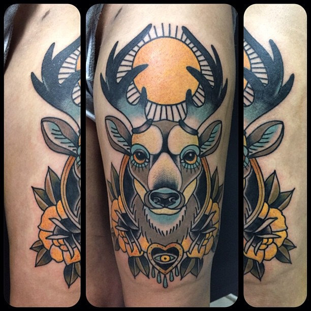 65 Nobel Deer Tattoo Meaning And Designs Express Your Feelings With Animal Pattern