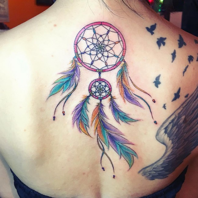 Dream Catcher Foot Tattoos 40 Best Dreamcatcher Tattoo Designs Meanings Dive Deeper 40 28