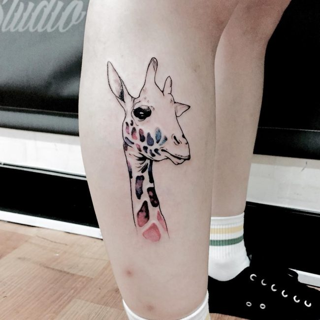 giraffe tattoos