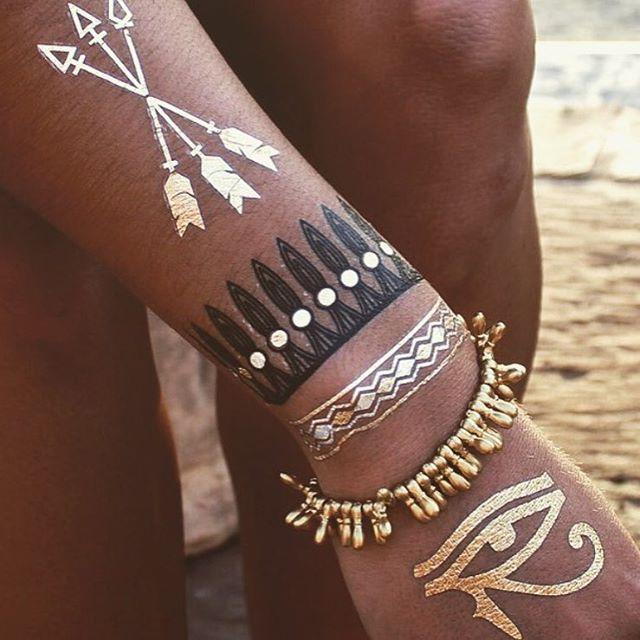 gold tattoo