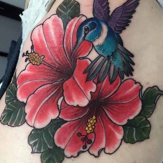 hibiscus tattoo (3)
