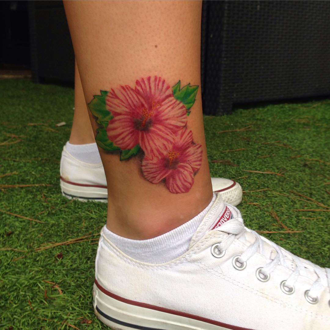 24 Hibiscus Flower Tattoos Designs Trends Ideas: 75+ Best Hibiscus Flower Tattoo Meaning & Designs