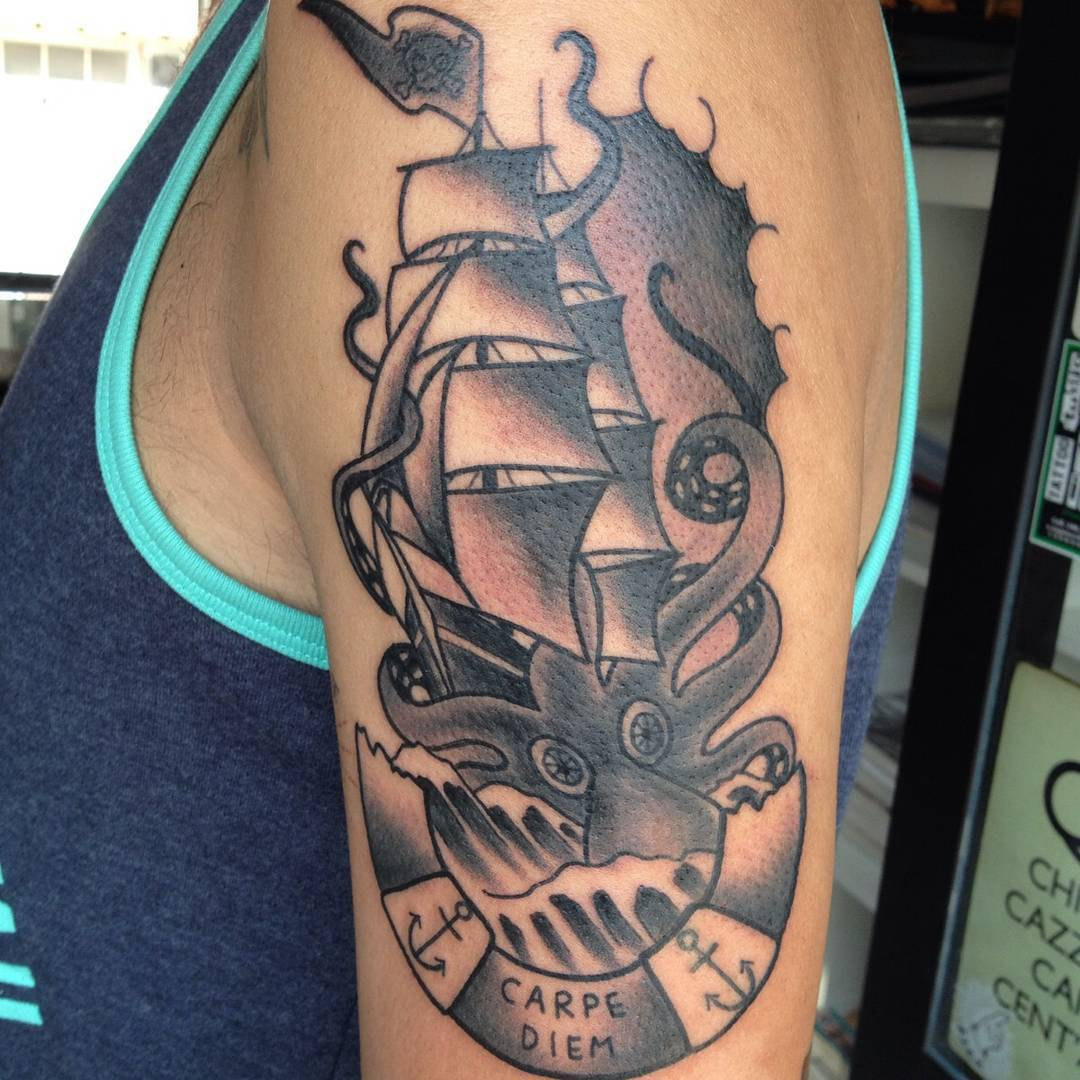 60+ Best Kraken Tattoo Meaning and Designs - Legend of The ...