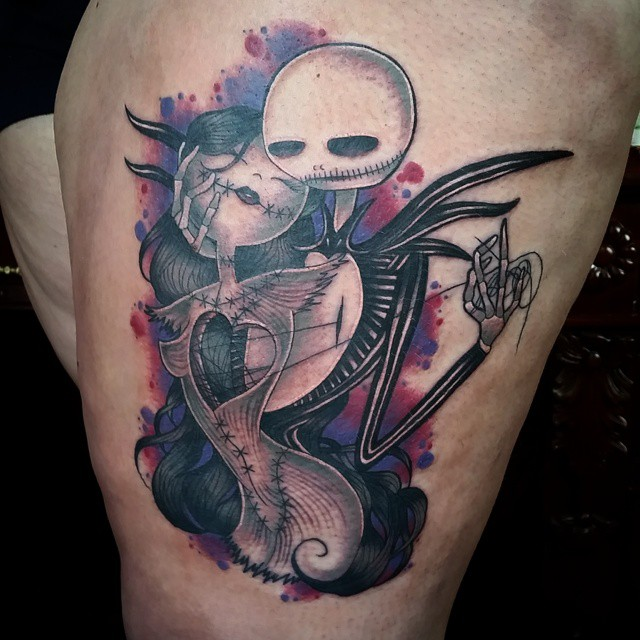 18171d5558e 75+ best Nightmare Before Christmas Tattoo Design Ideas (2019)