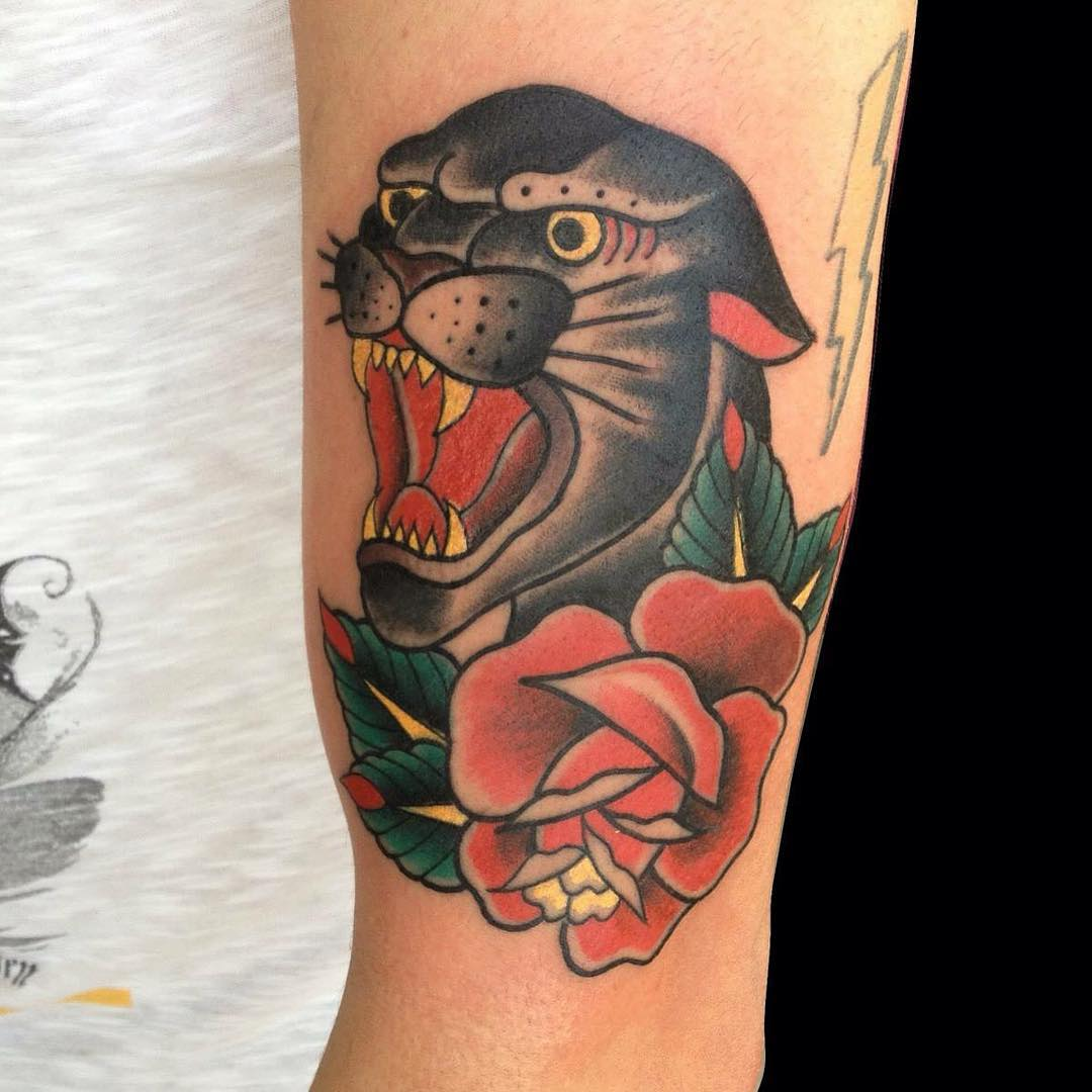 Panther face tattoo designs
