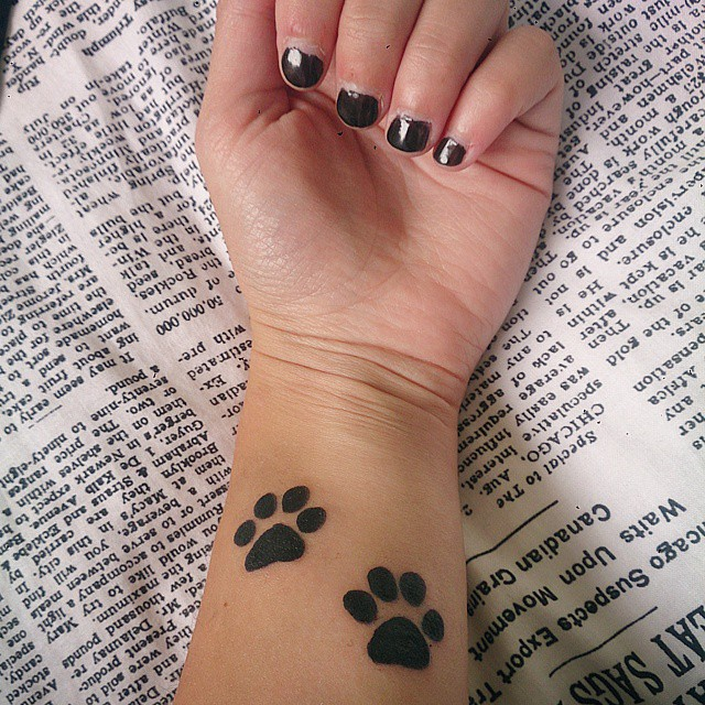 5cc3e618c 90+ Best Paw Print Tattoo Meanings and Designs - Nice Trails (2019)