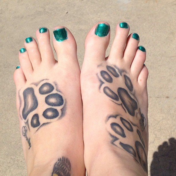 Paw Print Toe Tattoo: 70 Best Paw Print Tattoo Meanings And Designs To