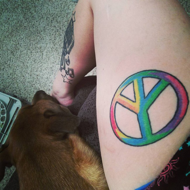 30 Cool Peace Sign Tattoo Meaning And Ideas