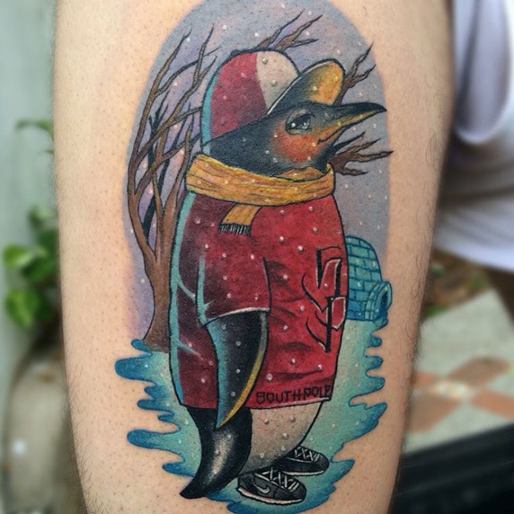 75+ Best Penguin Tattoo Designs & Meanings - Northern ...