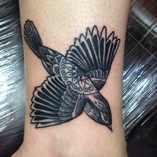 Black Sparrow Tattoo