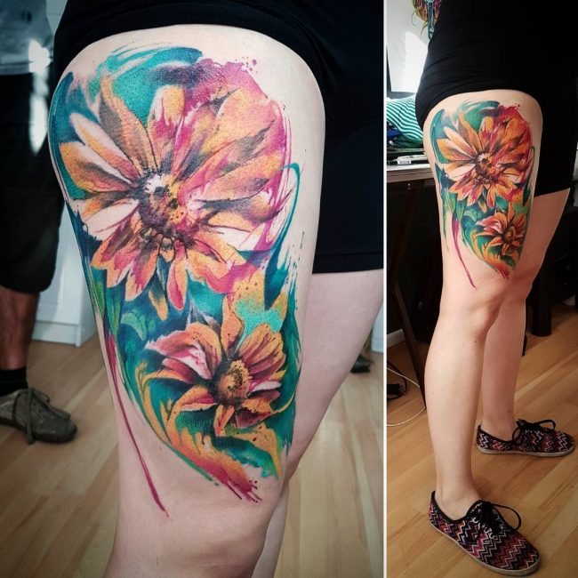 sunflower tattoo_