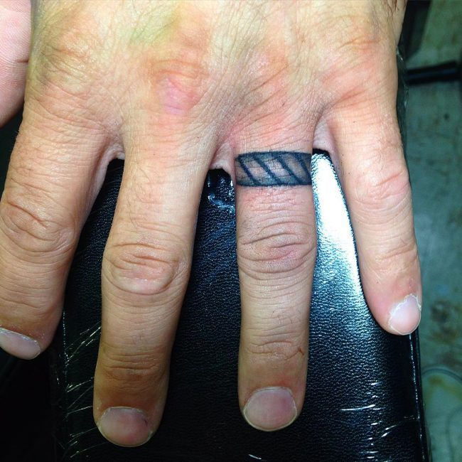 7 Easy Rules Of Mens Wedding Ring Tattoos Designs | mens