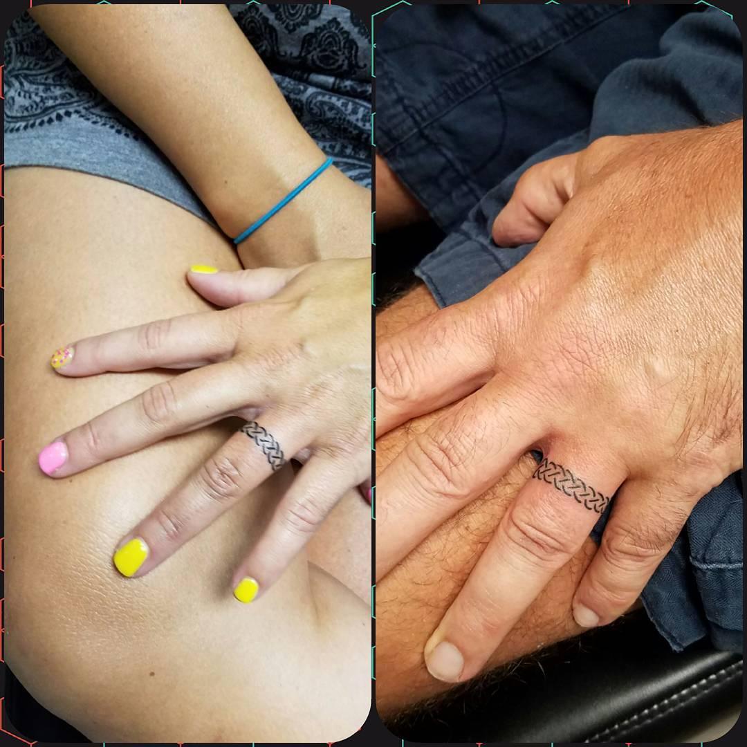 Tattoos of wedding