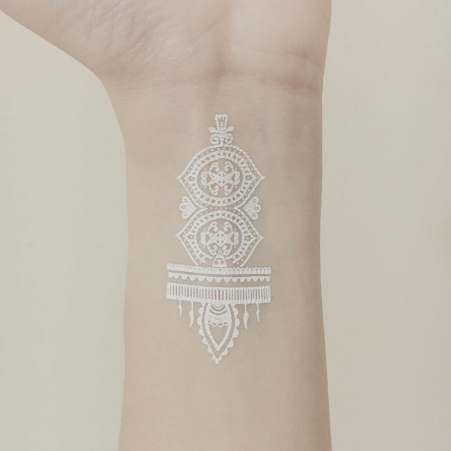 white tattoo