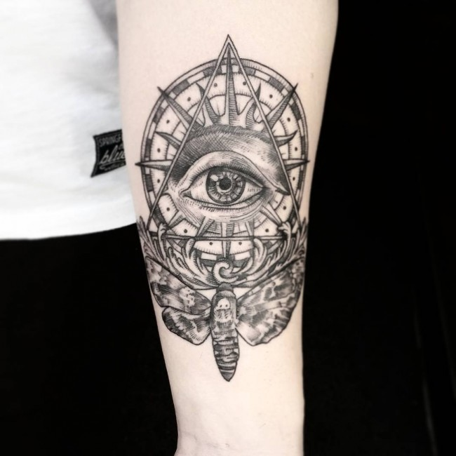 60 greatest all seeing eye tattoo ideas a mystery on skin. Black Bedroom Furniture Sets. Home Design Ideas